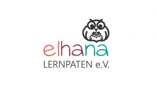 Logoentwicklung | elhana LERNPATEN e.V. Relaunch Logo für Berliner Verein
