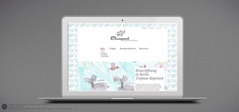 Entwicklung Website und Erscheinungsbild (Corporate Identity & -Design) für Kita