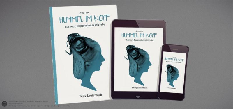 Buchgestaltung und Entwicklung von PR-Konzept-Kampagne für Hummel im Kopf