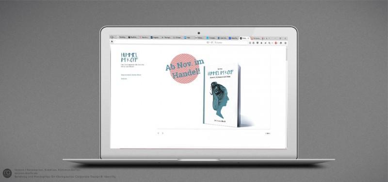 Buchgestaltung und Entwicklung von PR-Konzept-Kampagne für Hummel im Kopf | Entwicklung Landingpage