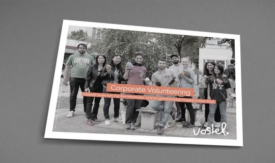 racoon | Präsentationsunterlagen des Unternehmens vostel - Corporate Volunteer. Weiterentwicklung des Corporate Design.
