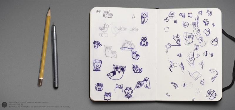 Logoentwicklung | Skizzen, Ideenfindung, erste Schritte