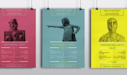 Performing Arts Berlin | Entwicklung PR-Strategie und Marketingkonzept für Festival/offline