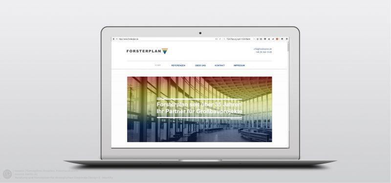 FORSTERPLAN GMBH | Alte Website im neuen Glanz. Entwicklung, Entwurf und Realisierung der Website nach bestehenden und Erweiterung des Corporate Design Richtlinien durch racoon-berlin.de
